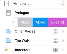 Scrivener for iOS: Swipe to Expand Your Outlines – The Cellar Door