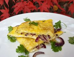 Cheese and onion omelette - CookTogether