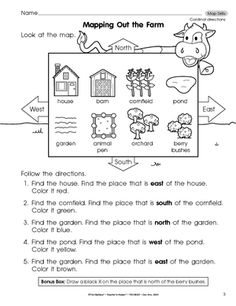 28+ [ Grade 4 Map Skills Worksheets ] | middle school map ...