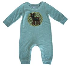 Little Deer Romper - Blue by Red Egg and Ginger – Pacifier