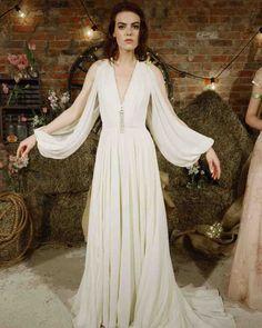 The 9 Best Wedding Dress Trends from Bridal Fashion Week | Martha Stewart Weddings - (Off the) Shoulder Details