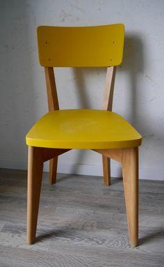 Chaise de bistrot vintage relookée