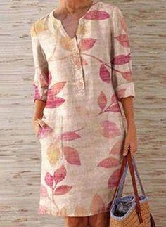 Simple Dresses, Casual Dresses, Latest Fashion For Women, Womens Fashion, Fashion Online, Linen Dresses, Buy Dress, Women's Fashion Dresses, Dress Patterns