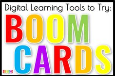 Boom Learning Cards: Digital Learning Tools - Sharing Kindergarten