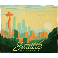 Seattle Fleece Throw 80x60 now featured on Fab.