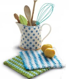 Lily® Sugar 'n Cream® Basic Striped Dishcloth  #crochet #pattern