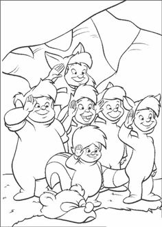 Peter Pan is a famous Disney movie. Discover this coloring page of Peter Pan Lost boys. A nice drawing for disney lovers. Peter Pan Coloring Pages, Coloring Pages For Boys, Cartoon Coloring Pages, Disney Coloring Pages, Coloring Pages To Print, Coloring Book Pages, Peter Pan Disney, Peter Pan And Tinkerbell, Peter Pan Drawing