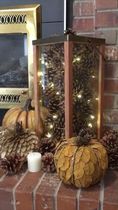 Thanksgiving Wood Crafts, Pinecone Christmas Crafts, Diy Autumn Crafts, Christmas Diy, Pinecone Decor, Pine Cone Decorations, Outdoor Christmas Decorations, Diy Thanksgiving Decorations, Seasonal Decor