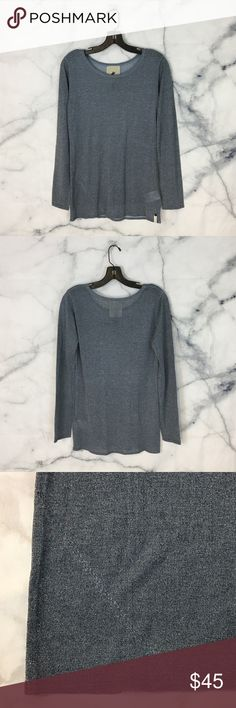 """One Teaspoon Sparkle Long Sleeve Top One Teaspoon blue long sleeve top with sparkles all over. Excellent condition!  Measurements: • Pit to pit - 17"""" • Length from shoulder to hem - 26.5"""" One Teaspoon Tops Tees - Long Sleeve"""
