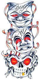 ... tattoos on Pinterest   Clown tattoo Good times and Skull tattoo