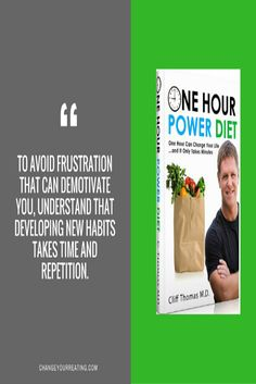 To avoid frustration that can demotivate you, understand that developing new habits takes time and repetition.