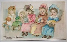 "1892 White Sewing Machine Co Victorian Trade Card ""Singing Its Praises"" 4 | eBay"