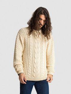 15% OFF: VAUTE Vegan Aran Sweater on Him - Ivory   VauteCouture