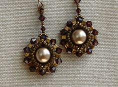 Sidonia's handmade jewelry - Half Tila Earrings tutorial