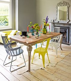 04-Parquet-top-dining-table-graham-and-green-home-decorating-ideas-homes-JWbQqO-med