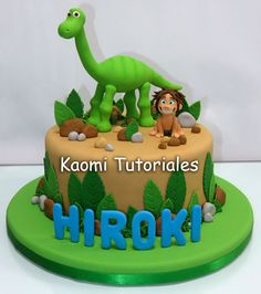 Kaomi Tutoriales: Un Gran Dinosaurio, figuras para torta / The Good ...