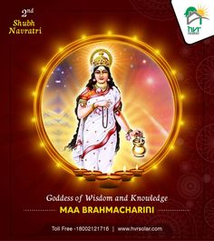 bless everyone! Worshipping Devi Brahmacharini brings blessings of austerity, happiness and fulfillment. She serves as an inspiration to move forward in life. Solar Panel Companies, Solar Panel Manufacturers, Maa Durga Image, Durga Maa, Actress Bikini Images, Navratri Festival, Durga Images, Visual Dictionary, Best Solar Panels