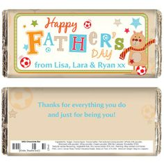 Personalised Father's Day Teddy Chocolate Bar  from Personalised Gifts Shop - ONLY £5.99