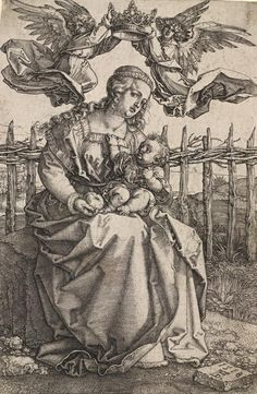 Madonna Crowned by Two Angels