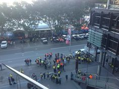 """"""" frustrated Barangaroo workers waiting for meeting on update post Wednesday's fire"""" Waiting, Sci Fi, Fire, Twitter, Science Fiction"""