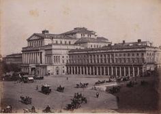 Maurycy Pusch uczył się fotografowania od Józefa Giwartowskiego - właściciela pierwszego w Polsce atelier dagerotypowego. Na zdjęciu: Teatr ...