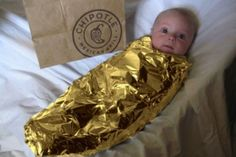Great baby Halloween costume! Easy, too!