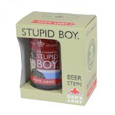 Other Celebrations & Occasions Dad's Army Stupid Boy Glass Beer Stein Tankard & Gift Box Christmas Gift Him & Garden Great Gifts For Men, Gifts For Him, Dad's Army, Army Gifts, Home Guard, Boys Are Stupid, Fathers Day Cards, Coffee Cans, Health And Beauty