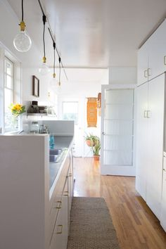 DIY Kitchen Track Lighting Solution   Apartment Therapy