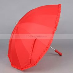 heart shaped peony bouquets | Heart Shape Nylon Wedding Umbrella Red