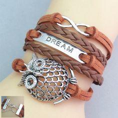 Image of [grxjy51201257]Retro Owl DREAM Friendship Bracelet