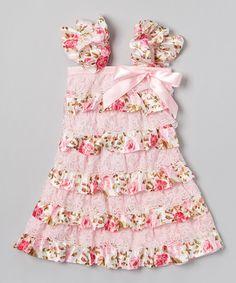Loving this Pink Rose Ruffle Pettidress - Infant, Toddler & Girls on #zulily! #zulilyfinds