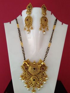 traditional south indian  gold Plated  designer  Indian Jewelry mangalsutra set  #panassh Buy Gold Jewellery Online, India Jewelry, Temple Jewellery, Trendy Jewelry, Cheap Jewelry, Fashion Jewelry, Turquoise Jewelry, Gold Jewelry, Beaded Jewelry