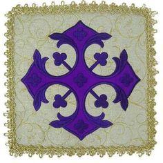 Pala - cartão quadrado, revestido de pano, utilizado para cobrir a patena e o cálice.