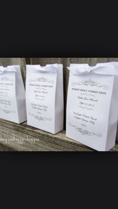 Gift bags for holy communion