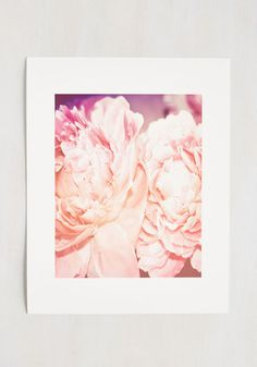"""Peonies and Thank You Print  - 11 x 14"""" - Pink, Floral, Print, Spring, Good, Dorm Decor, Fairytale, Summer, Gals, Under $20"""
