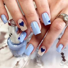 What Christmas manicure to choose for a festive mood - My Nails Simple Acrylic Nails, Best Acrylic Nails, Simple Nails, Classy Nails, Stylish Nails, Trendy Nails, Perfect Nails, Gorgeous Nails, Blue Nails