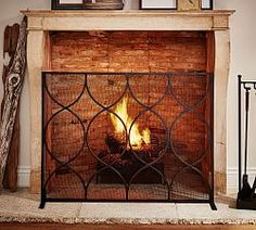 Most up-to-date Free Fireplace Screen pottery barn Strategies Moroccan Twist Fireplace Single Screen Small Overall: long x deep x high Weigh Simple Fireplace, Paint Fireplace, Fireplace Tool Set, Concrete Fireplace, Fireplace Hearth, Country Fireplace, Cottage Fireplace, Fireplace Kitchen, Shiplap Fireplace