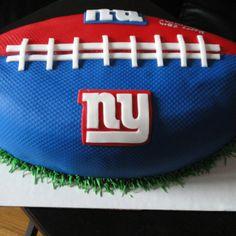 NY GIANTS FOOTBALL CAKE