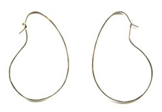 Customer just ordered these and reminded me that I love the bean shape of these hoop earrings.