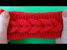 Knitting pattern Узор Коса вязание спицами 7 - YouTube