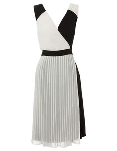 Sonia Kruger - Colour Blocked Pleat Dress SK0060