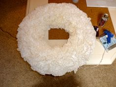 Crafty Texas Girls: The Coffee Filter Wreath (A Christmas Craft)