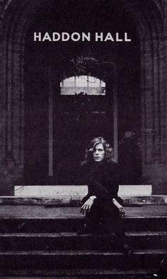 David Bowie, outside Haddon Hall.