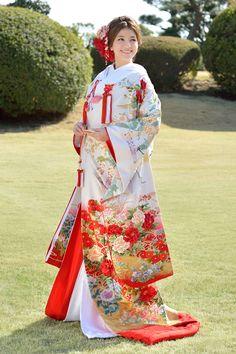 枝垂桜花車に鶴