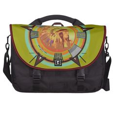 Indian Head Test Pattern Laptop Commuter Bag by NDGRags