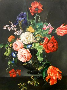 Painter Jan Van Huysum floral inspiration
