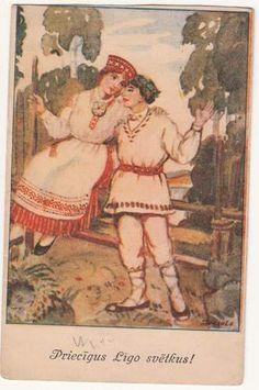 Riga, Latvia, Ligo Midsummer Day by Draule Boy Girl National Dress Used Riga 1929 Riga Latvia, John The Baptist, Night, Boys, Dress, Summer Solstice, Baby Boys, Dresses, Vestidos