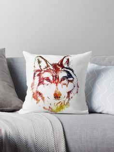 Hand Drawn Colorful Wolf Face. Find this unique design available in Men and Women T Shirts, Kids Clothing,Tote Bags, Hoodies, Tanks and more Apparel. Home Decor Stuff like: Art Prints, Posters, Canvas and Metal Prints, Throw Pillows, Floor Pillows, Duvet Covers, Throw Blankets, Shower Curtains, Comforters, Wall Tapestries and more.  #wolf #wolves #wolflover #wolfgifts #giftsforwolves #redbubble #findyourthing #thropillows #homedecor #hoteldecoration #pillows #interiordesign #ethnic #wolfpack Wall Tapestries, Tapestry, Throw Blankets, Throw Pillows, Watercolor Wolf, Wolf Face, Hotel Decor, Shower Curtains, Kids Clothing
