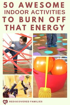 Indoor activities for kids when you are stuck inside at home. Perfect for rainy days or for when winter cabin fever strikes. We've got fun ideas for children of all ages. Includes active games to burn energy, imaginative play, crafts, sensory fun and Rainy Day Activities For Kids, Fun Indoor Activities, Indoor Activities For Kids, Fun Activities For Kids, Kids Fun, Indoor Party Games, Games To Play With Kids, Games To Play Indoors, Games For Preschoolers Indoor