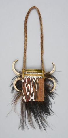 Amulet. Oceania: Pacific Islands, Melanesia,Papua New Guinea, Lake Sentani Region. Asmat people, 20th century.